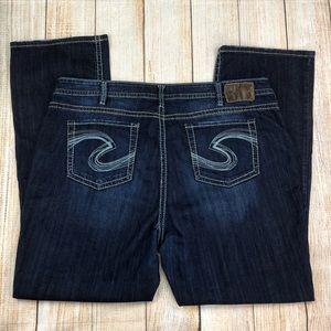 SILVER JEANS Natsuki Dark Wash Heavy Stitch Jeans
